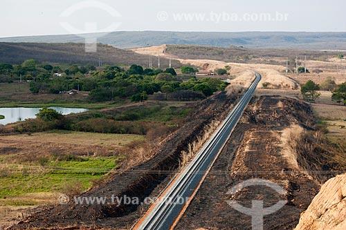 Assunto: Trilhos da Ferrovia Transnordestina no sertão cearense - TLSA - Transnordestina Logística S/A / Local: Missão Velha - Ceará (CE) - Brasil / Data: 10/2011