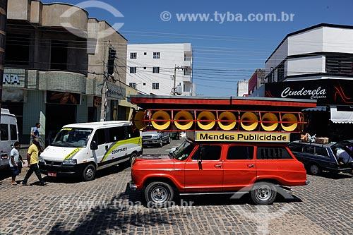 Assunto: Carro de som em rua comercial / Local: Brejo Santo - Ceará (CE) - Brasil / Data: 10/2011
