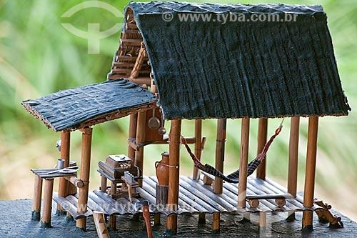 Assunto: Projeto Encauchados Vegetais, maquete artesanal de casa de seringueiro  / Local: Rio Branco - Acre (AC) - Brasil / Data: 11/2011
