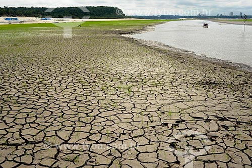 Assunto: Terra Seca da Praia da Lua - maior seca registrada / Local: Manaus - Amazonas (AM) - Brasil / Data: 11/2010