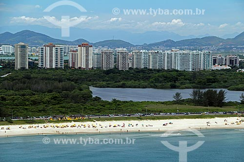 Assunto: Vista aérea da praia e da Reserva de Marapendi / Local: Recreio dos Bandeirantes - Rio de Janeiro - Rio de Janeiro (RJ) - Brasil / Data: 01/2012