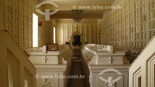 Assunto: Ossário no interior da Igreja da Ordem Terceira de São Francisco (1702) / Local: Salvador - Bahia (BA) - Brasil / Data: 01/2012