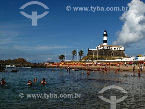 Assunto: Praia da Barra e Farol da Barra ou Farol de Santo Antônio        / Local: Salvador - Bahia (BA) - Brasil / Data: 01/2012