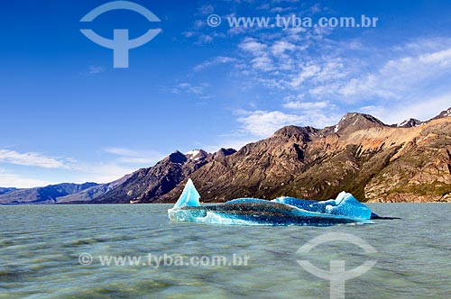 Assunto: Iceberg no Lago Viedma / Local: El Chalten - Província de Santa Cruz - Argentina - América do Sul / Data: 02/2010
