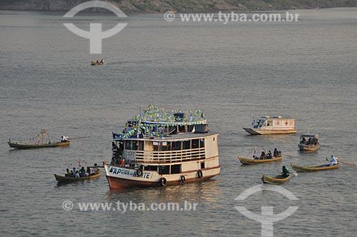 Assunto: Barcos no Rio Madeira / Local: Distrito de São Carlos do Jamari - Porto Velho - Rondônia (RO) - Brasil / Data: 10/2010