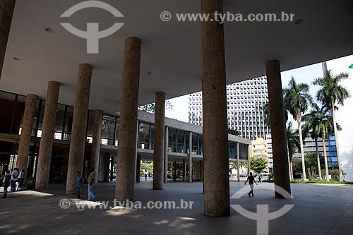Assunto: Colunas do Palácio Gustavo Capanema (Antigo prédio do MEC) / Local: Centro - Rio de Janeiro (RJ) - Brasil / Data: 09/2011
