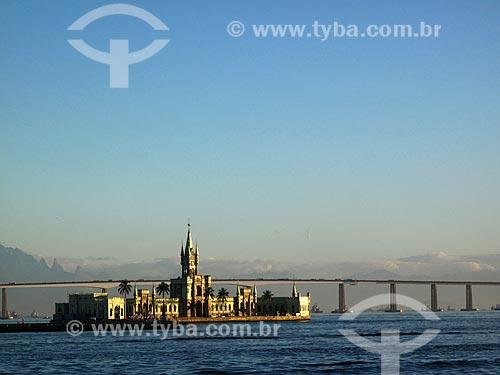Castelo da Ilha Fiscal  - onde aconteceu o último baile do Brasil Império antes da Proclamação da República  - Rio de Janeiro - Rio de Janeiro - Brasil
