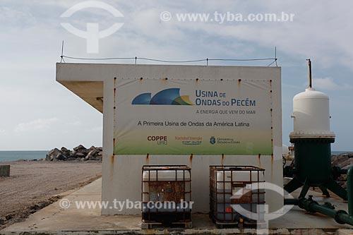 """Assunto: Usina de Ondas do Pecém -  Projeto desenvolvido pelos pesquisadores do Laborató€""""rio de tecnologia Submarina da COPPE-UFRJ / Local: São Gonçalo do Amarante - Ceará (CE) - Brasil / Data: 01/2012"""