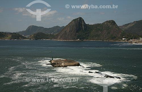 Assunto: Vista aérea do Forte Tamandaré da Laje, na Ilha da Laje, na boca da barra da Baía de Guanabara / Local: Rio de Janeiro (RJ) - Brasil / Data: 09/2011