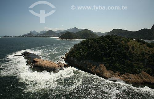 Assunto: Vista aérea da Ilha Cotunduba com Praia de Copacabana ao fundo / Local: Rio de Janeiro (RJ) - Brasil / Data: 09/2011
