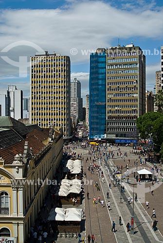 Assunto: Vista do Largo Glênio Peres - No lado esquerdo o Mercado Público Central  / Local: Porto Alegre - Rio Grande do Sul (RS) - Brasil / Data: 11/2011