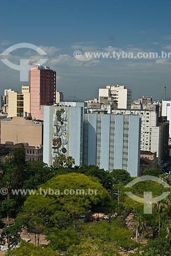 Assunto: Vista aérea da Praça da Alfândega / Local: Porto Alegre - Rio Grande do Sul (RS) - Brasil / Data: 12/2011