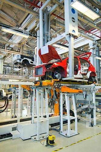 Assunto: Robô em linha de montagem de automóveis da Volkswagen / Local: São Bernardo do Campo - São Paulo (SP) - Brasil / Data: 07/2010