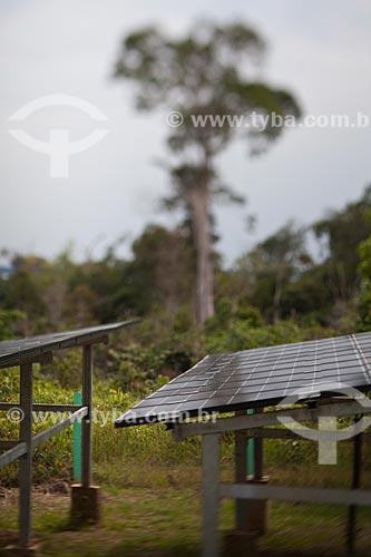 Assunto: Mini usina fotovoltaica na comunidadde de de Bom Jesus do Puduarí / Local: Novo Airão - Amazonas (AM) - Brasil / Data: 10/2011