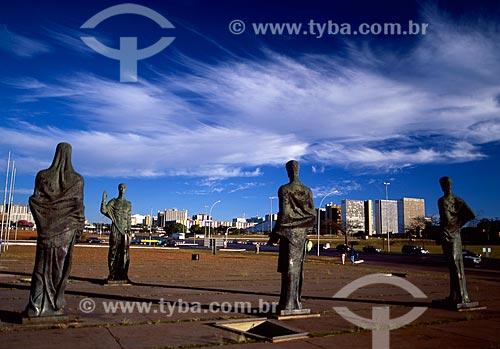 Assunto: Escultura Os Quatro Evangelistas  / Local: Brasília - Distrito Federal (DF) - Brasil / Data: