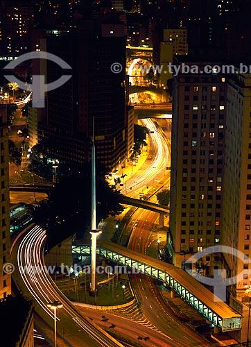 Assunto: Vista noturna da Praça da Bandeira / Local: São Paulo (SP) - Brasil / Data: 05/2009