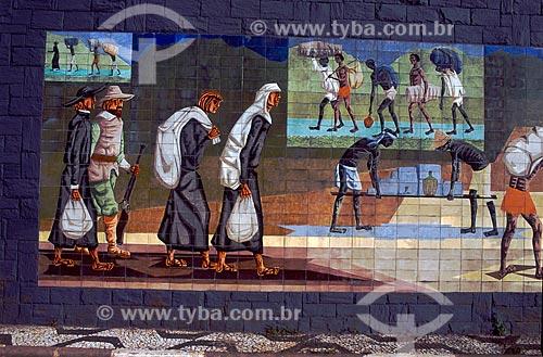Assunto: Pintura mural na Avenida 23 de maio retratando a Fundação de São Paulo / Local: São Paulo (SP) - Brasil / Data: 05/2009