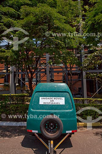 Assunto: Unidade móvel de ar respirável na Usina de Cogeração (açúcar, etanol e energia elétrica) da empresa Guarani  / Local: Olímpia - São Paulo (SP) - Brasil  / Data: 09/2011