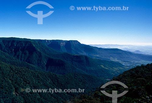 Assunto: Vista da Serra do Faxinal / Local: Santa Catarina (SC) - Brasil / Data: 07/2009