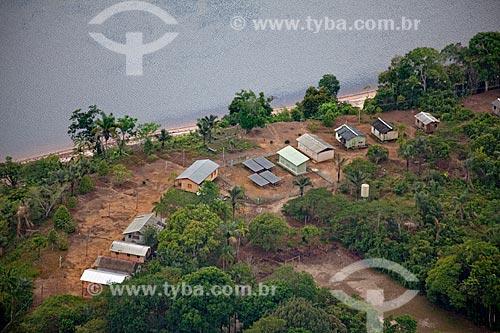 Assunto: Vista aérea da comunidade de Aracari / Local: Novo Airão - Amazonas (AM) - Brasil / Data: 10/2011
