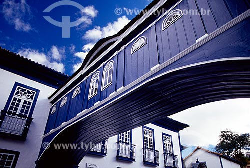 Assunto: Passadiço da Casa da Glória - Localizado na Rua da Glória / Local: Diamantina - Minas Gerais (MG) - Brasil / Data: 07/2006