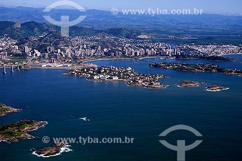 Assunto: Vista aérea da cidade de Vitória / Local: Vitória - Espírito Santo (ES) - Brasil / Data: 08/2008