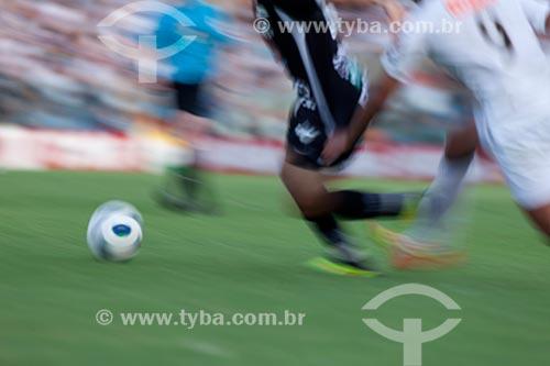 Assunto: Jogo de futebol Ceará x Santos pelo Campeonato Brasileiro Série A / Local: Fortaleza - Ceará (CE) - Brasil / Data: 11/2011