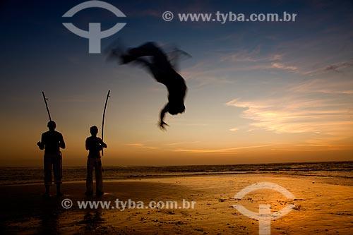 Assunto: Grupo de capoeira em Jericoacoara / Local: Jijoca de Jericoacoara - Ceará (CE) - Brasil / Data: 11/2011