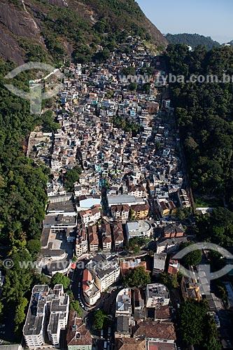Assunto: Vista aérea da Favela Santa Marta / Local: Botafogo - Rio de Janeiro (RJ) - Brasil / Data: 03/2012