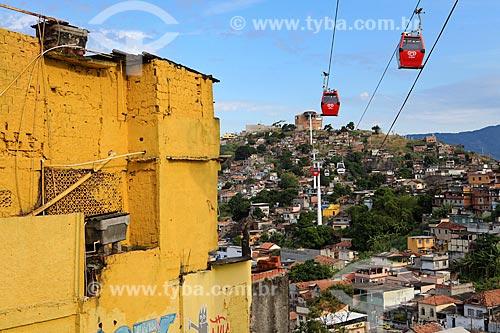 Assunto: Teleféricos ligando o Morro da Baiana ao Morro do Adeus - Complexo do Alemão / Local: Rio de Janeiro (RJ) - Brasil / Data: 03/2012