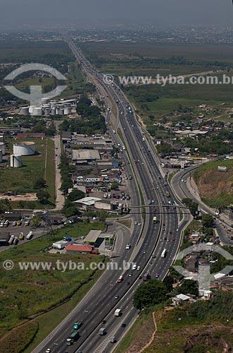 Assunto: Vista aérea da Rodovia Washington Luís - BR-040 / Local: Duque de Caxias - Rio de Janeiro (RJ) - Brasil  / Data: 03/2012