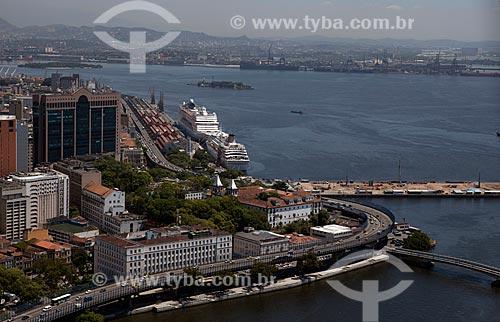 Assunto: Vista aérea do Elevado da Perimetral e do Porto do Rio de Janeiro / Local: Centro - Rio de Janeiro (RJ) - Brasil / Data: 03/2012