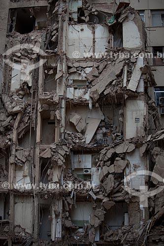 Assunto: Escombros dos edifícios que desmoronaram na Rua 13 de Maio / Local: Centro - Rio de Janeiro (RJ) - Brasil / Data: 01/2012