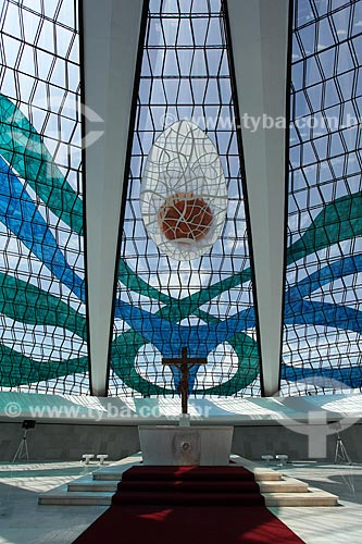 Assunto: Vista do interior da Catedral Metropolitana de Nossa Senhora Aparecida (Catedral de Brasília) / Local: Brasília - Distrito Federal (DF) - Brasil / Data: 11/2011