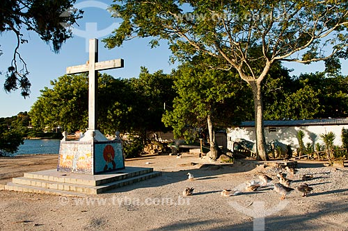 Assunto: Cruz na Ponta do Sambaqui / Local: Distrito de Santo Antonio de Lisboa - Florianópolis - Santa Catarina (SC) - Brasil / Data: 03/2012