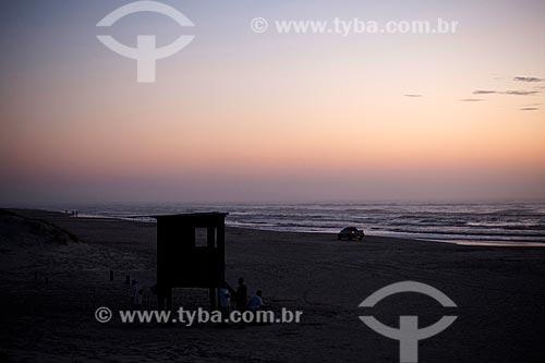 Assunto: Entardecer na Praia Nova - Balneário Mostardense / Local: Mostardas - Rio Grande do Sul (RS) - Brasil / Data: 02/2012
