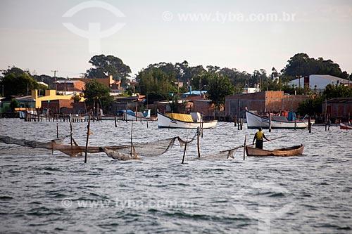 Assunto: Pesca na Lagoa dos Patos / Local: São José do Norte - Rio Grande do Sul (RS) - Brasil / Data: 02/2012