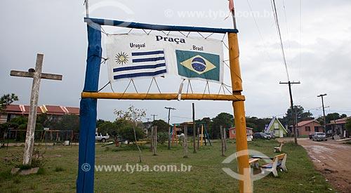 Assunto: Praça no Balneário Barra do Chuí - Fronteira Brasil-Uruguai / Local: Santa Vitória do Palmar - Rio Grande do Sul (RS) - Brasil / Data: 02/2012
