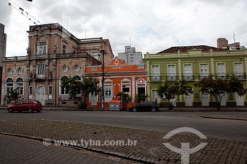 Assunto: Casario na Praça Coronel Pedro Osório / Local: Pelotas - Rio Grande do Sul (RS) - Brasil / Data: 02/2012
