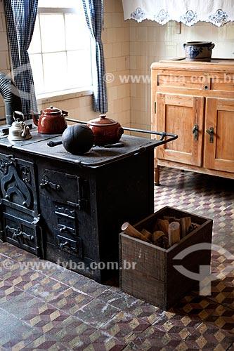 Assunto: Cozinha do Museu da Baronesa - Solar da Baronesa (1863) - Abrigou a família de Aníbal e Amélia Hartley Antunes Maciel / Local: Pelotas - Rio Grande do Sul (RS) - Brasil / Data: 02/2012