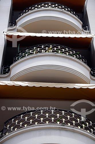 Assunto: Detalhe das varandas do Edifício Biarritz - Edifício residencial em estilo Art Déco / Local: Flamengo - Rio de Janeiro (RJ) - Brasil / Data: 01/2012