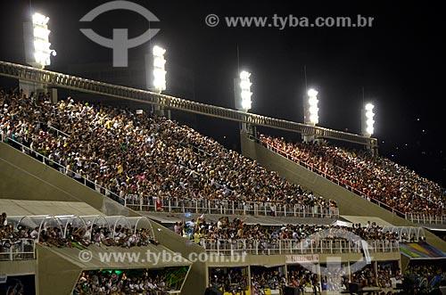 Assunto: Arquibancadas e camarotes no Desfile das Escolas de Samba  / Local: Rio de Janeiro (RJ) - Brasil / Data: 02/2012
