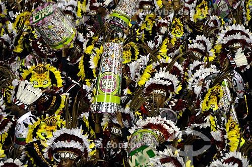 Assunto: Desfile da Escola de Samba Estação Primeira de Mangueira - Bateria - Enredo 2012 - Vou Festejar! Sou Cacique, Sou Mangueira / Local: Rio de Janeiro (RJ) - Brasil / Data: 02/2012