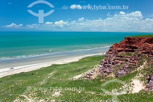 Assunto: Falésias na Ponta do Mel  / Local: Areia Branca - Rio Grande do Norte (RN) - Brasil / Data: 03/2012