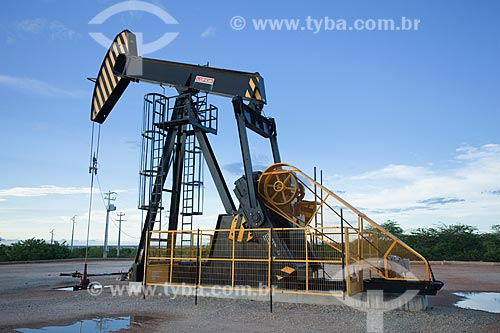 Assunto: Unidade de bombeio de petróleo no campo de Canto do Amaro / Local: Mossoró - Rio Grande do Norte (RN) - Brasil / Data: 03/2012