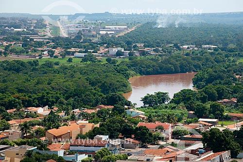 Assunto: Vista aérea do Rio Vermelho com mata nativa ao redor / Local: Rondonópolis - Mato Grosso (MT) - Brasil / Data: 12/2011