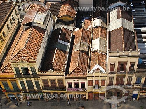 Assunto: Casario antigo na Rua da Lapa / Local: Lapa - Rio de Janeiro (RJ) - Brasil / Data: 05/2012