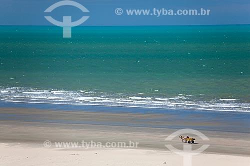 Assunto: Carroça na praia de Ponta do Mel / Local: Areia Branca - Rio Grande do Norte (RN) - Brasil / Data: 03/2012