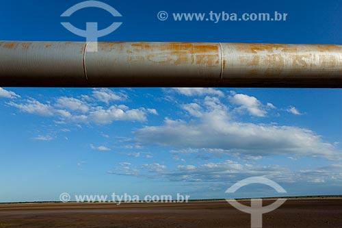 Assunto: Gasoduto próximo a Macau - Litoral potiguar / Local: Macau - Rio Grande do Norte (RN) - Brasil / Data: 03/2012