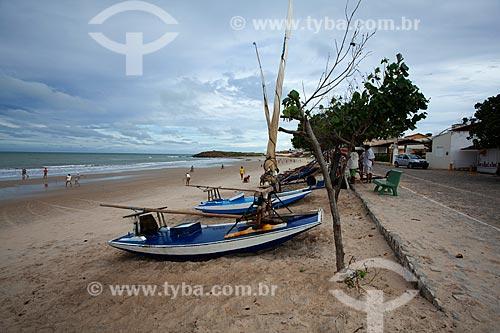 Assunto: Jangadas em praia de Touros / Local: Touros - Rio Grande do Norte (RN) - Brasil / Data: 03/2012